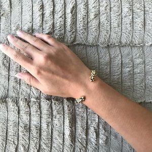 J Crew Golden Cuff Bangle Bracelet